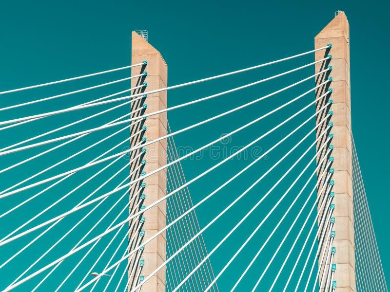 Arkitektoniska detaljer av 25 de Abril Bridge 25th April Bridge In Lisbon fotografering för bildbyråer