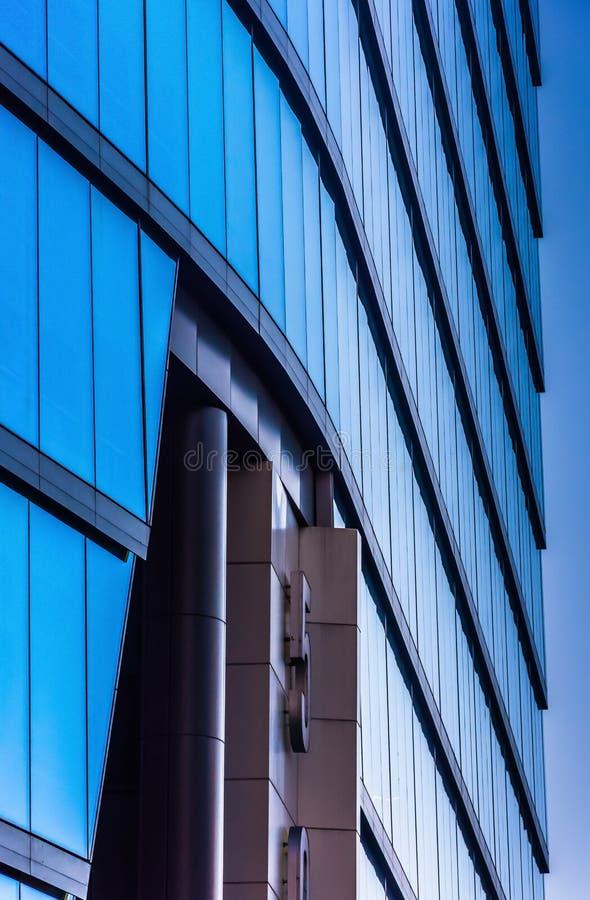 Arkitektoniska detaljer av den moderna WSFS-bankbyggnaden i downto arkivfoton