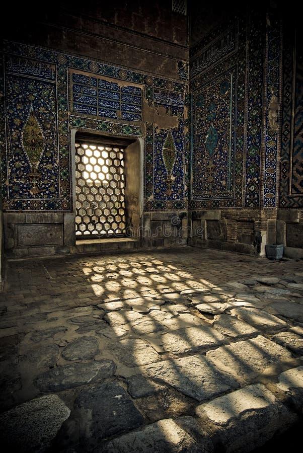 Arkitektoniska detaljer av Registan arkivfoton