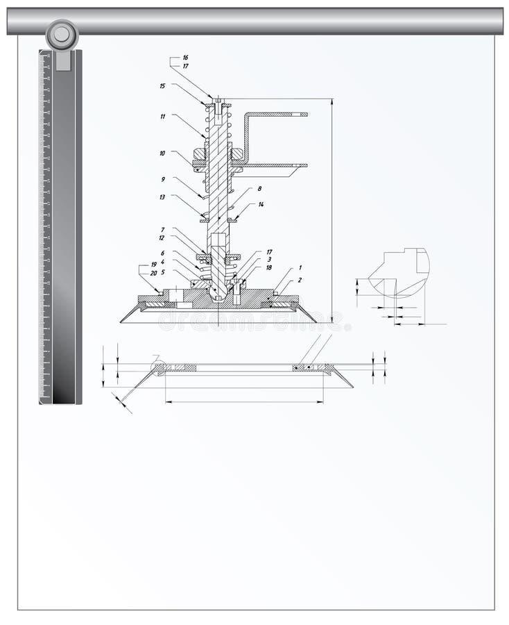 arkitektoniska hjälpmedel vektor illustrationer