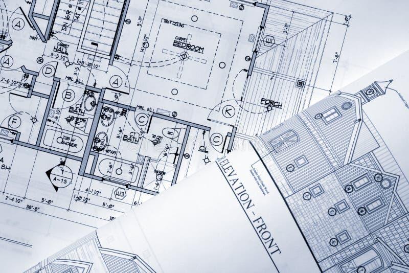 arkitektoniska plan arkivfoto