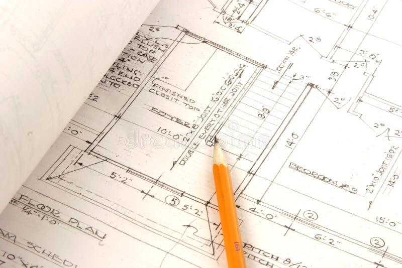 arkitektoniska plan royaltyfria bilder