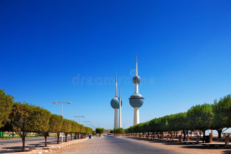 Arkitektoniska symboler av Kuwaitet City arkivbilder