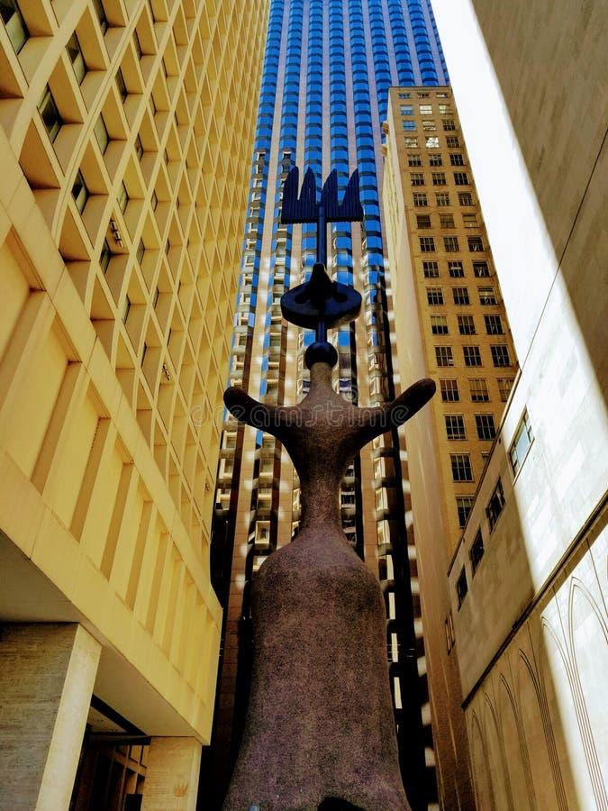 Arkitektoniskt gå i staden av Chicago USA arkivfoton