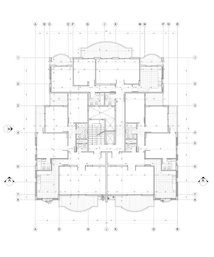 Arkitektoniskt plan vektor illustrationer