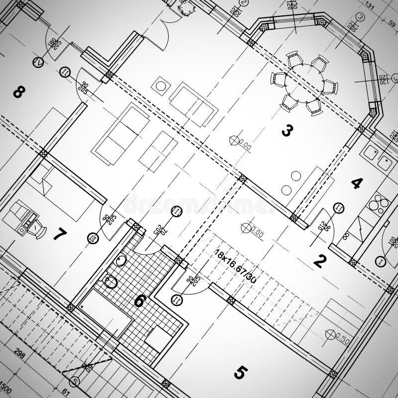 Arkitektoniskt plan royaltyfri foto