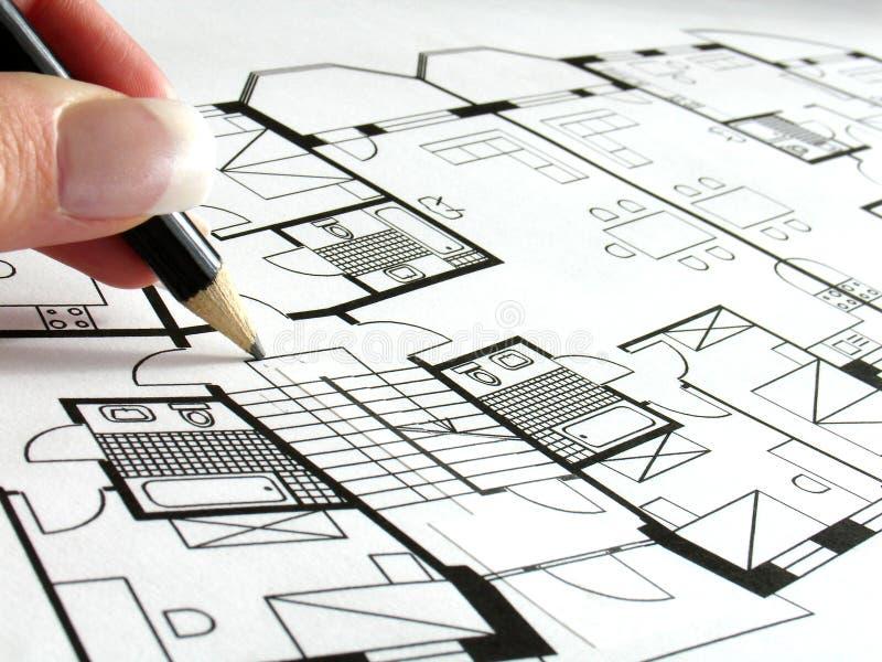 arkitektoniskt plan arkivbilder