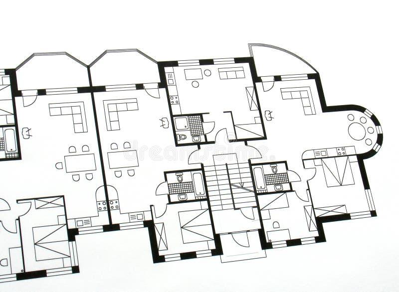 arkitektoniskt plan royaltyfri bild