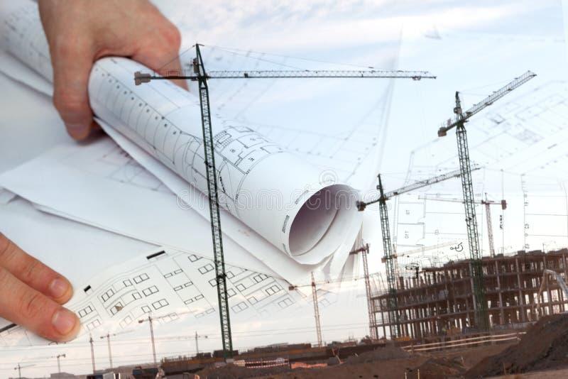 Arkitektoniskt projekt arkivfoton