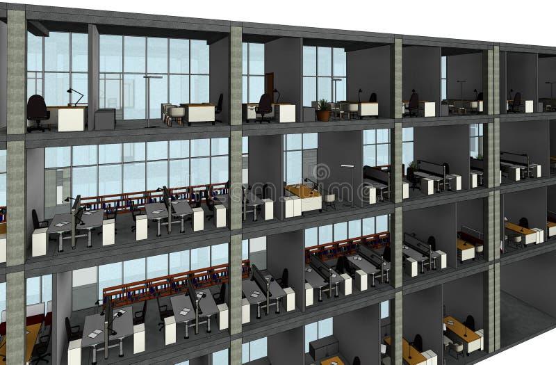 Arkitektoniskt skissa teckningsbyggnadsmodellen arkivbilder