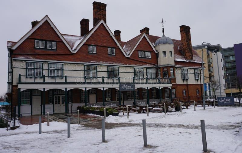 Arkitektoniskt uttryck av England av gammalt arkivfoton