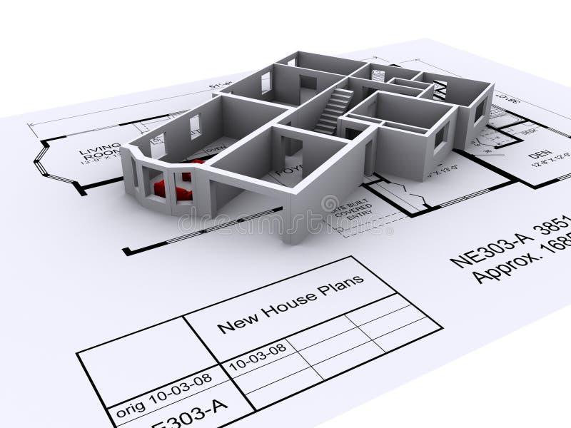 arkitektplan stock illustrationer