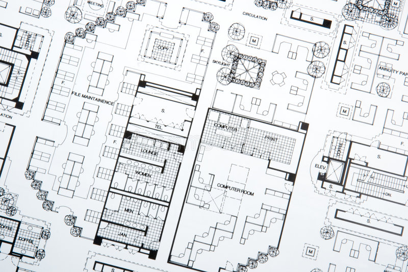 arkitektteckningen planerar s royaltyfri foto