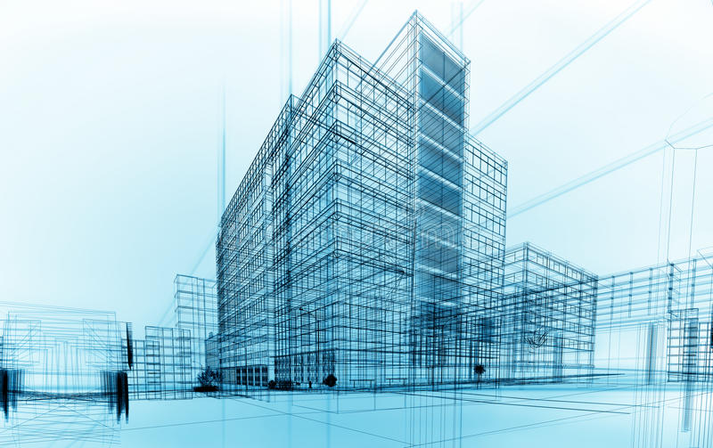 arkitektur vektor illustrationer