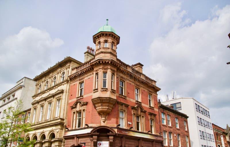 Arkitektur av de Preston byggnaderna arkivfoto