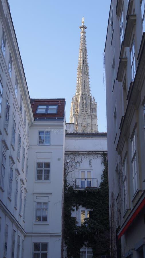 Arkitektur av den centrala delen av Wien arkivbild