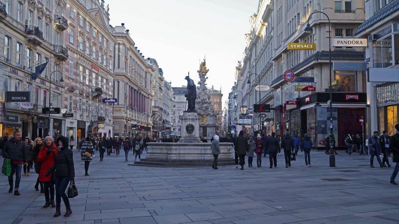 Arkitektur av den centrala delen av Wien royaltyfria bilder