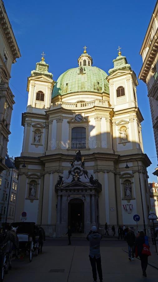 Arkitektur av den centrala delen av Wien arkivbilder