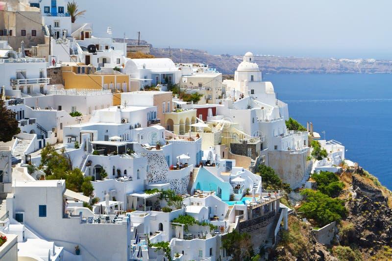 Arkitektur Av Den Fira Townen I Grekland Arkivfoton