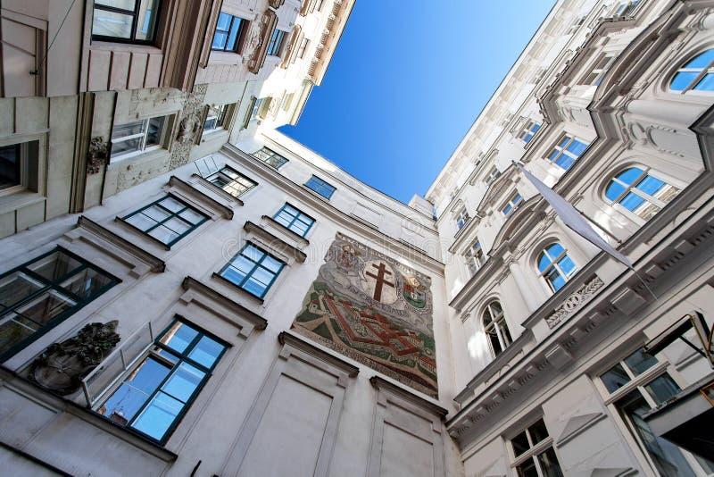 Arkitektur av den gamla staden - Wien, Österrike royaltyfria foton