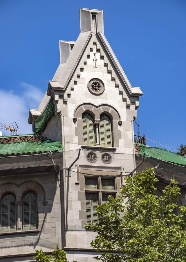 Arkitektur av den Passeig de Gracia gatan i Barcelona royaltyfri bild