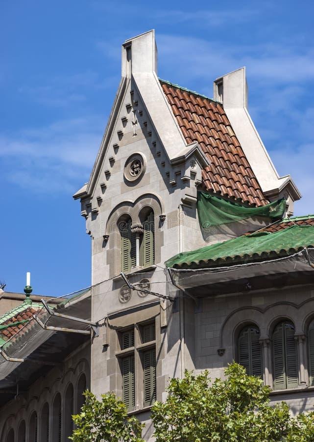 Arkitektur av den Passeig de Gracia gatan i Barcelona royaltyfria bilder