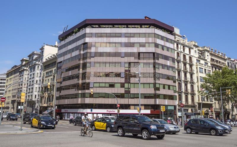 Arkitektur av den Passeig de Gracia gatan i Barcelona royaltyfri fotografi