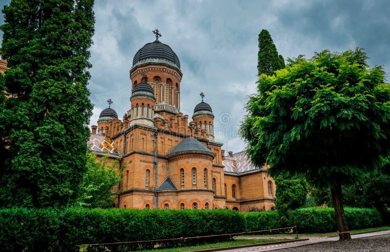 Arkitektur av det nationella universitetet och uppehållet av det storstads- i Chernivtsi, Ukraina arkivfoto