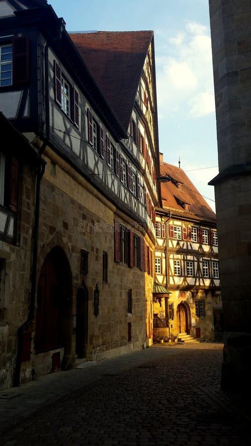 Arkitektur av Esslingen f.m. Neckar royaltyfria bilder