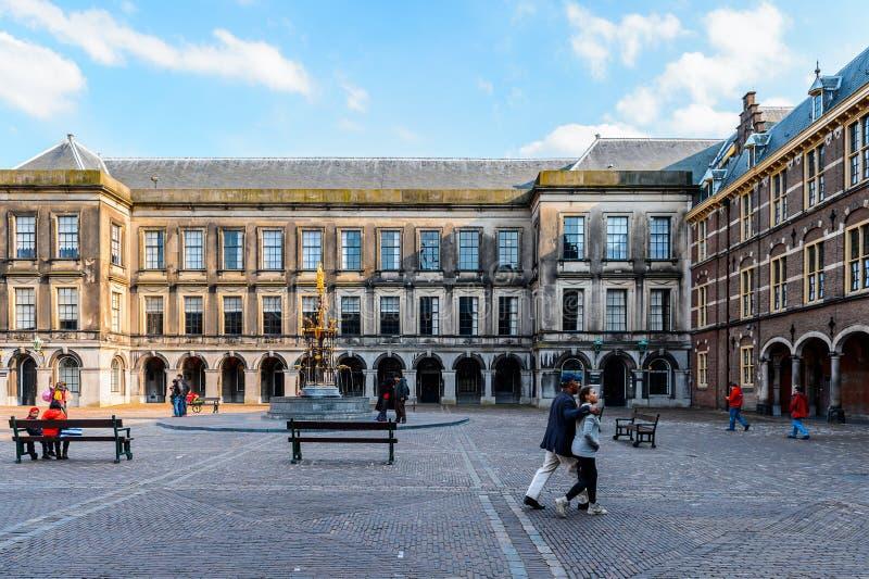 Arkitektur av Hague, Nederländerna royaltyfri foto