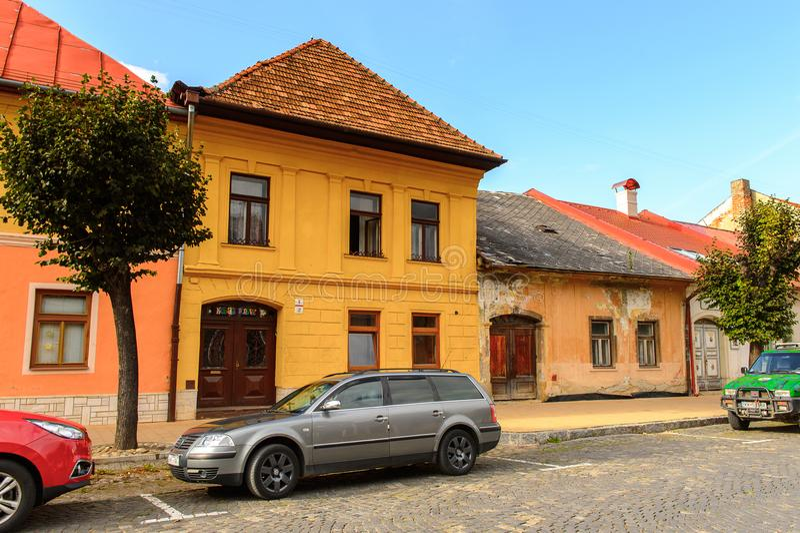 Arkitektur av Kezmarok, Slovakien, royaltyfri fotografi