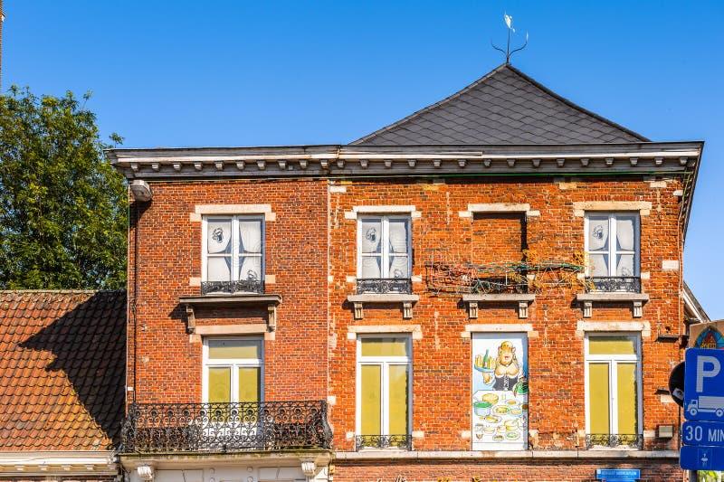 Arkitektur av Leuven, Belgien royaltyfri bild