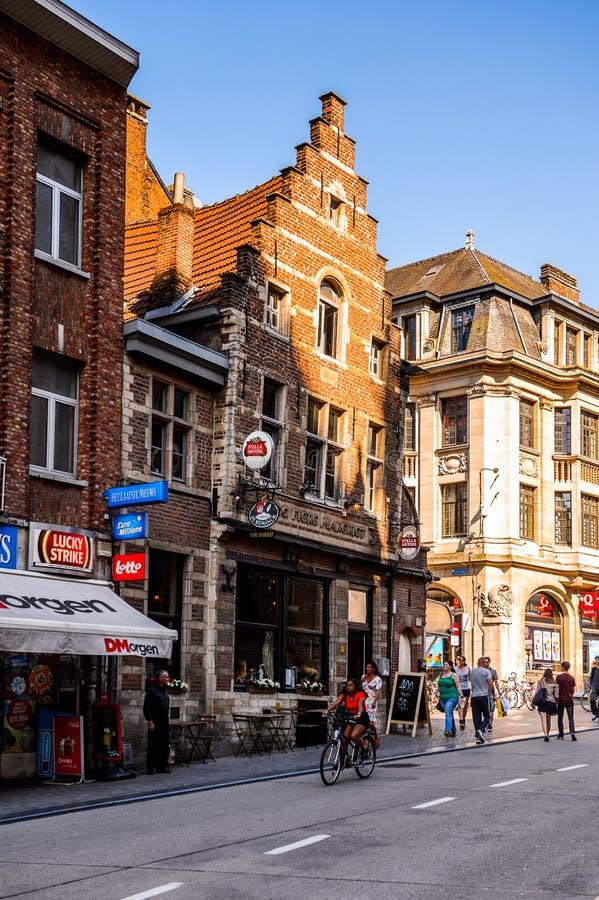 Arkitektur av Leuven, Belgien arkivbild