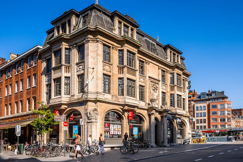 Arkitektur av Leuven, Belgien fotografering för bildbyråer