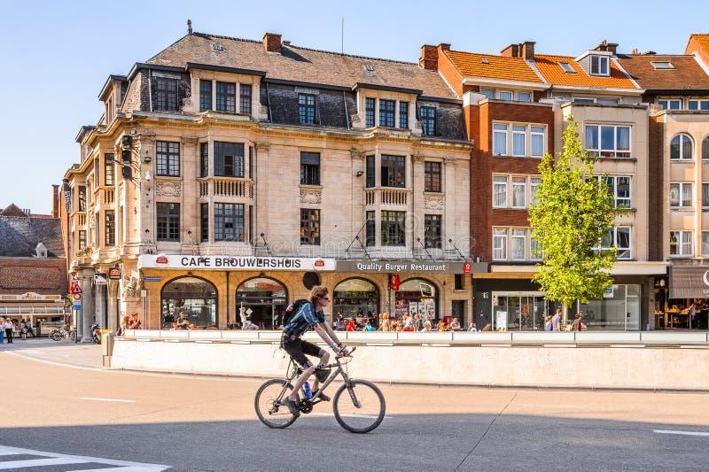 Arkitektur av Leuven, Belgien royaltyfria bilder