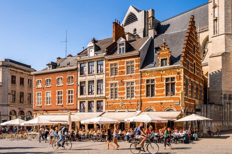 Arkitektur av Leuven, Belgien royaltyfri fotografi
