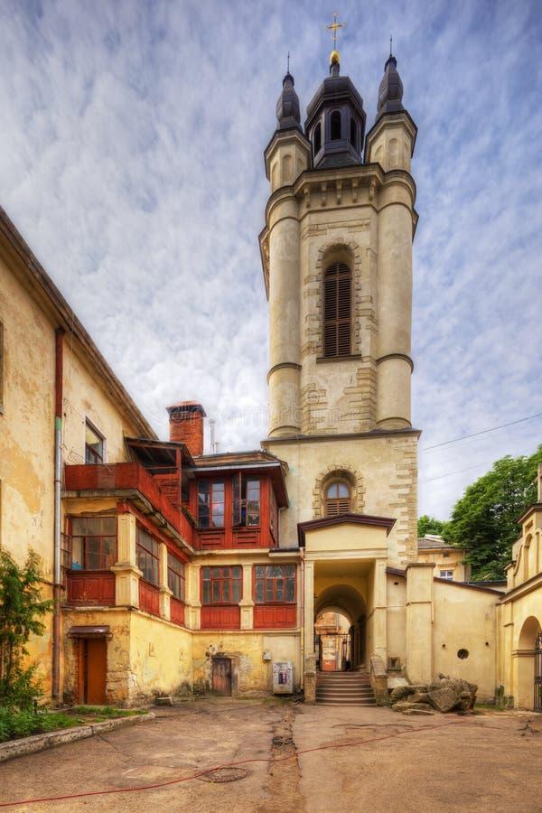 Arkitektur av Lviv ukraine royaltyfria foton
