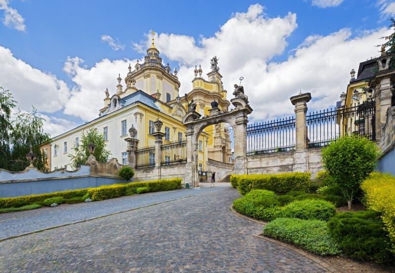 Arkitektur av Lviv ukraine arkivfoto