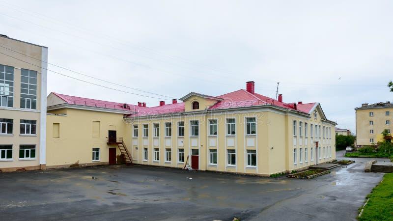 Arkitektur av Magada, rysk federation royaltyfria foton