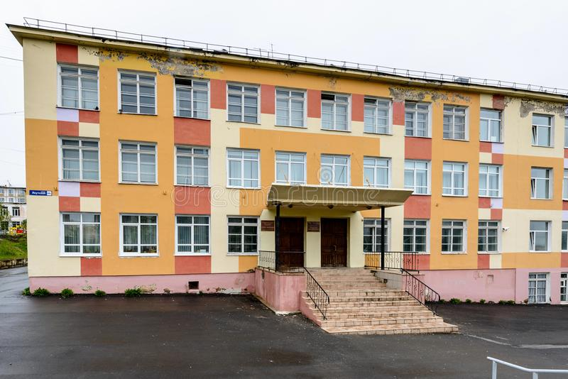 Arkitektur av Magada, rysk federation royaltyfri foto