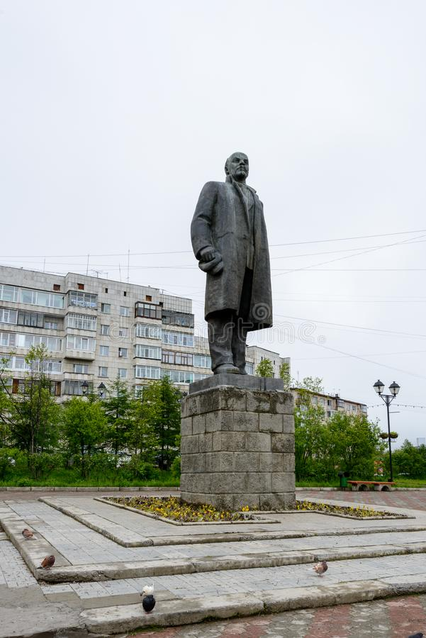 Arkitektur av Magada, rysk federation royaltyfri bild
