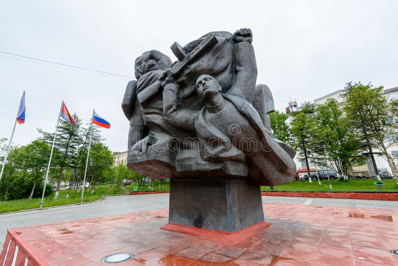 Arkitektur av Magada, rysk federation royaltyfria bilder