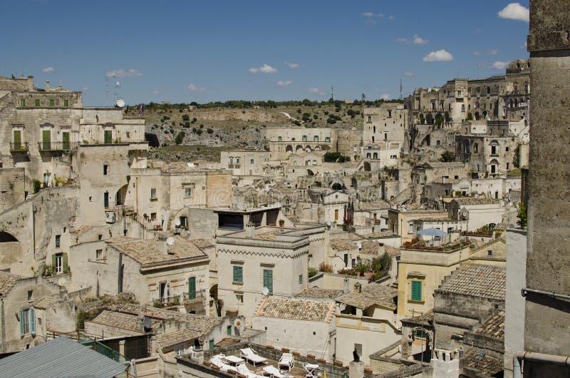 Arkitektur av Matera, Basilicata, Italien arkivbilder