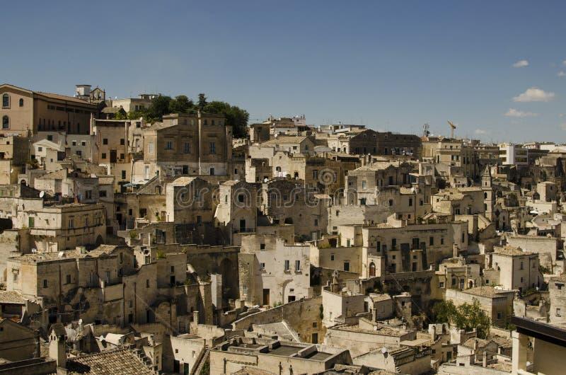 Arkitektur av Matera, Basilicata, Italien arkivfoton