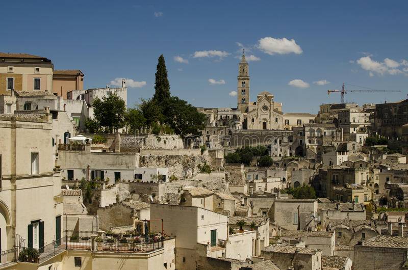Arkitektur av Matera, Basilicata, Italien royaltyfri bild