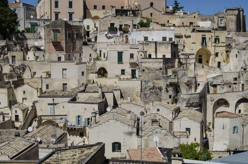 Arkitektur av Matera, Basilicata, Italien fotografering för bildbyråer