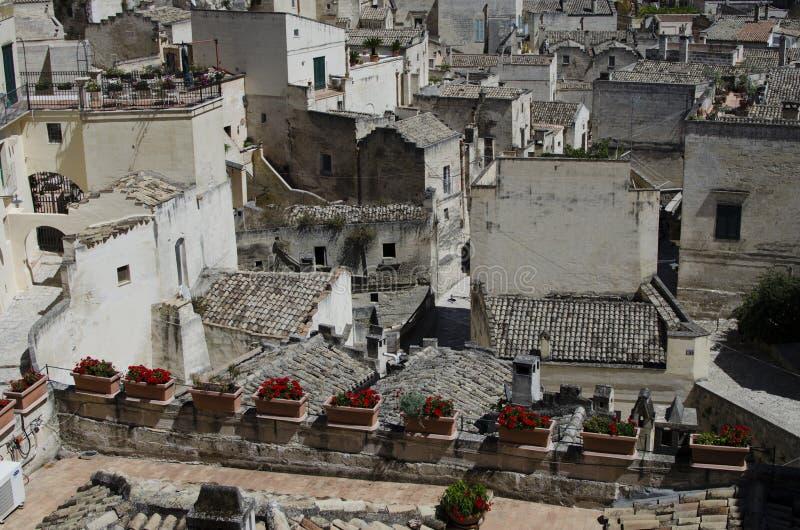 Arkitektur av Matera, Basilicata, Italien royaltyfria foton
