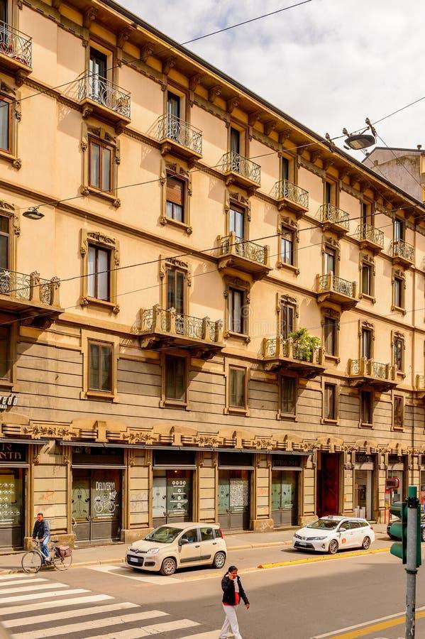 Arkitektur av Milan, Italien arkivbilder