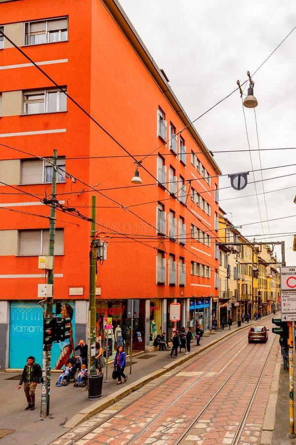 Arkitektur av Milan, Italien arkivbild
