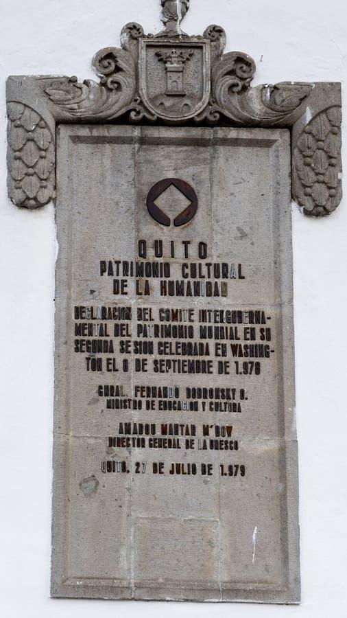 Arkitektur av Quito, Ecuador royaltyfri fotografi
